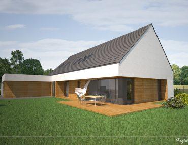 Projekt domu z wejściem od południa