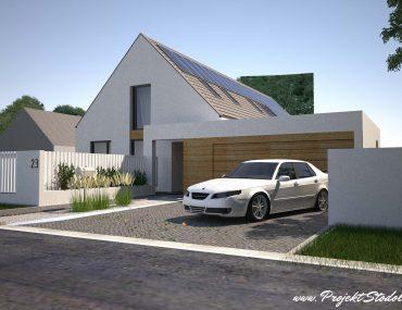 otwarty podjazd Projekt stodoła