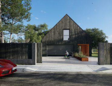 nowoczesna stodoła front