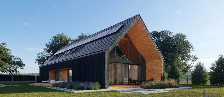 nowoczesna stodoła duże przeszklenie