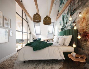 Nowoczesna stodoła sypialnia